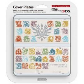 New 3DS Capa Decorativa Monster Hunter 4 Branco