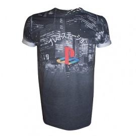T-shirt Playstation City Landscape Tamanho L