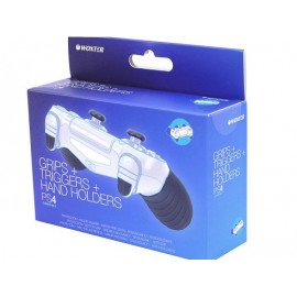 Controller Thumb Grips (Preto) + Triggers + Hand Holders - Woxter