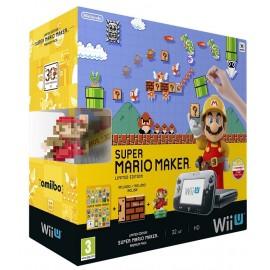 Consola Wii U Premium Pack 32GB (Preta) + Mario Maker + Artbook + Amiibo Mário Clássico