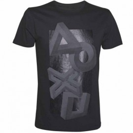 T-shirt Playstation Buttons Impossible Perspective Tamanho L