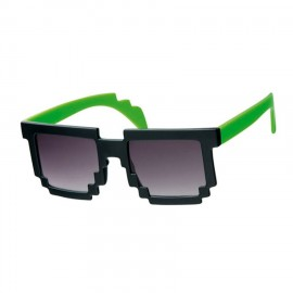 Oculos de Sol Minecraft Groof Black & Green Pixel