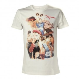 T-shirt Street Fighter White Characters Tamanho L