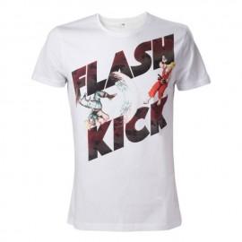 T-shirt Street Fighter White Flash Kick Tamanho M