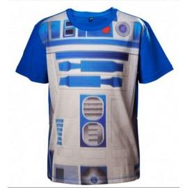 T-shirt Star Wars Kids R2D2 Tamanho 8 Anos
