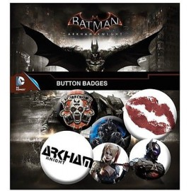 Batman Arkham Knight Pin Badge Pack