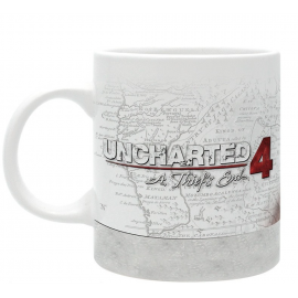 Caneca Uncharted 4 Nathan Drake In Map