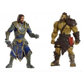 Warcraft Pack de 2 Mini Figuras: Lothar VS Horde Warrior