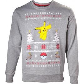 Camisola Pokémon Pikachu Christmas Tamanho L