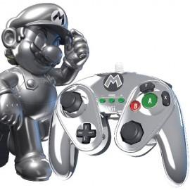 Comando Clássico Pro Nintendo GameCube Metal Mario Wii U