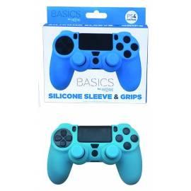 Capa de Silicone + Grips (Azul) PS4
