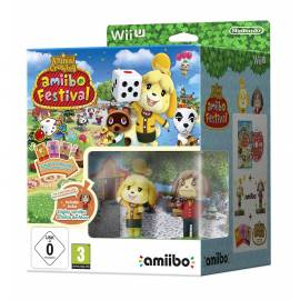 Animal Crossing Amiibo Festival Wii U + 2 figuras Amiibo + 3 cartões Amiibos