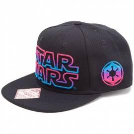 Boné Star Wars Preto com Logo Colorido