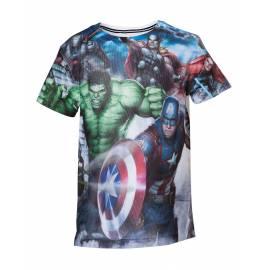T-Shirt Mesh Avengers Hulk Tamanho 10 Anos