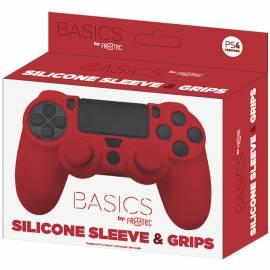 Capa de Silicone + Grips (Vermelho) PS4