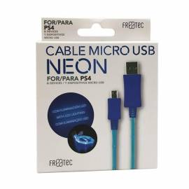 Cabo Micro USB Neon PS4 Freatek