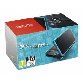Nova Consola 2DS XL Preta e Azul Turquesa