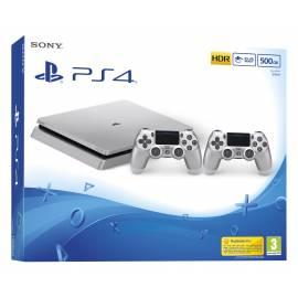 Consola PS4 Slim Prateada 500GB + Comando Dualshock 4 Prateado Extra