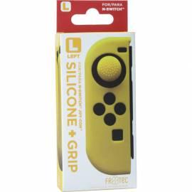 Capa de Silicone  + Grips (Amarelo) joy-con esquerdo Switch