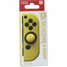 Capa de Silicone + Grips (Amarelo) joy-con direito Switch