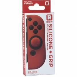 Capa de Silicone  + Grips (Vermelho) joy-con direito Switch