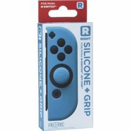 Capa de Silicone  + Grips (Azul) joy-con direito Switch