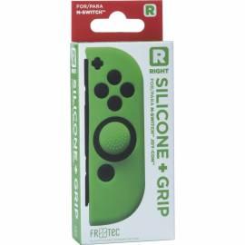 Capa de Silicone + Grips (Verde) joy-con direito Switch