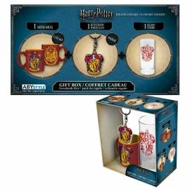 Pack Harry Potter Mini Caneca Gryffindor + Copo 29cl + Porta-Chaves