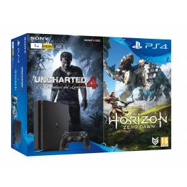 Bundle Consola PS4 Slim 1TB + Uncharted 4 + Horizon Zero Dawn