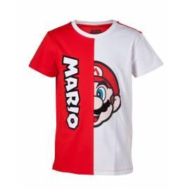 T-shirt Mario Cut & Sew Tamanho 10 Anos