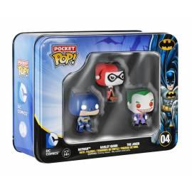 Pack 3 Figuras Pocket Pop! Batman,Harley Quinn e Joker