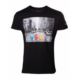 T-shirt Pac-man Ghosts Crossing Roads Tamanho M