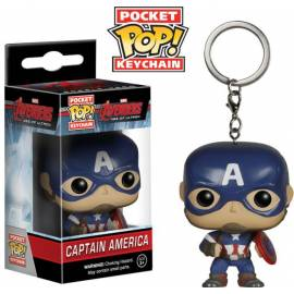 POCKET POP! Porta-Chaves: Avengers - Age Of Ultron: Capitão America