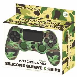Capa Silicone + Grips Comando PS4 Woodland Camo FR-TEC
