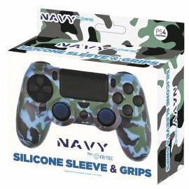 Capa Silicone + Grips Comando PS4 Navy Camo FR-TEC