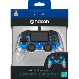 Comando Nacon Compact Iluminado Com Fio Transparent Blue