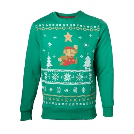 Camisola de Natal Verde Nintendo - Super Mario - Tamanho L