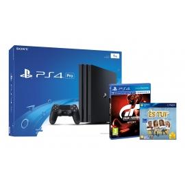Consola PS4 Pro 1TB + És Tu! + Gran Turismo Sport