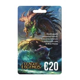 Cartão Pré-Pago 20€ League of Legends  (Digital) - (Envio por Email)