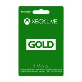 Cartão de Subscrição Xbox Live Gold 3 Meses (Digital) - (Envio por Email)