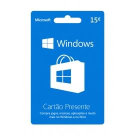 Cartão Presente Windows 15 Euros (Digital) - (Envio por Email)