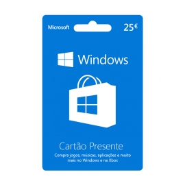 Cartão Presente Windows 25 Euros (Digital) - (Envio por Email)
