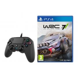 Pack WRC 7 PS4 + Comando Nacon Compact Com Fio Black