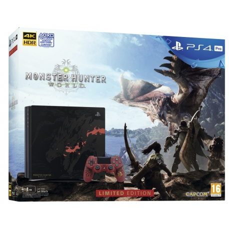 CONSOLA PS4 PRO - EDIÇÃO LIMITADA MONSTER HUNTER: WORLD™ RATHALOS + DS4