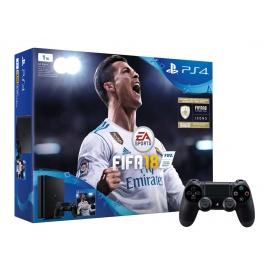 Consola PS4 Slim 1TB + Jogo FIFA 18 + Comando Dualshock 4 Extra + 14 Dias Subscrição PS Plus