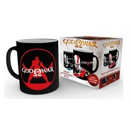Caneca de Reação Térmica God of War - Kratos