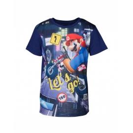 T-Shirt Menino Nintendo Super Mario Kart Tamanho 6 - 8 Anos