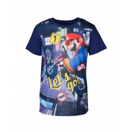 T-Shirt Menino Nintendo Super Mario Kart Tamanho 4 - 6 Anos