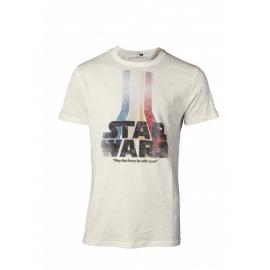 T-shirt Star Wars Retro Rainbow Logo Tamanho M