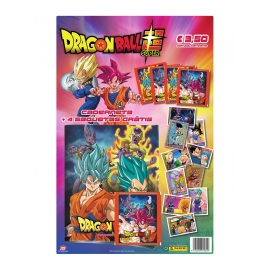 Caderneta Dragon Ball Z Super + 4 Saquetas de Cromos